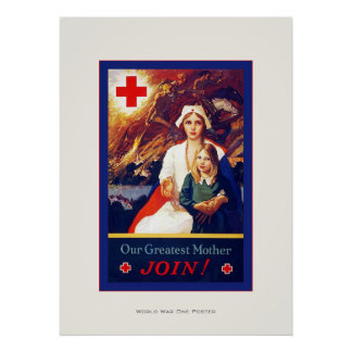 Our Greatest Mother ~ Vintage Nurse ~ WW1 Poster