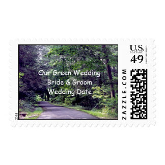 Our Green Wedding - postage stamps