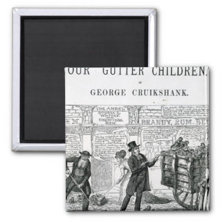 Our Gutter Children, 1869 2 Inch Square Magnet