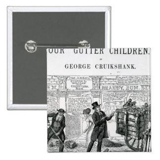 Our Gutter Children, 1869 Pinback Button