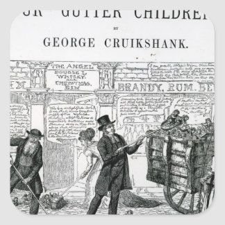 Our Gutter Children, 1869 Square Sticker