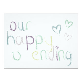 Our Happy Ending Wedding Day Card