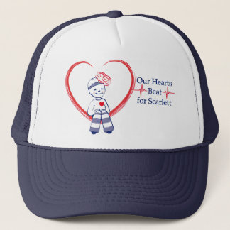 Our Hearts Beat for Scarlett Trucker hat