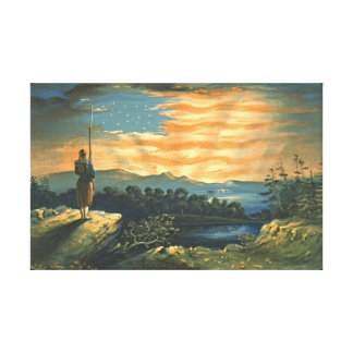 Our Heaven Born Banner 1861 Canvas Print