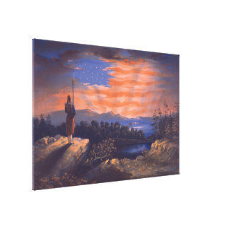 Our Heaven Born Banner by William Bauly Canvas Print