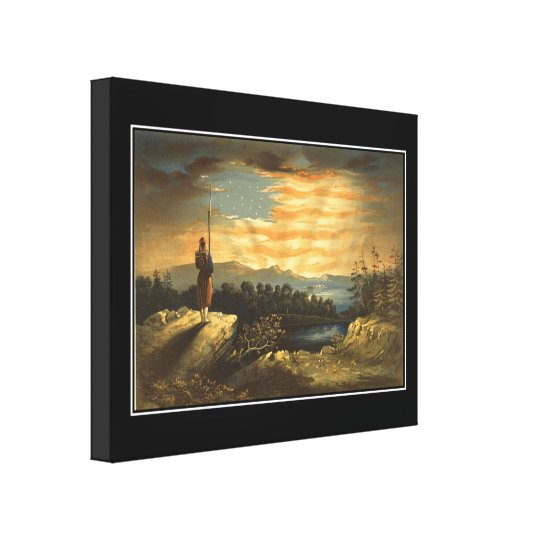 Our Heavenly Flag Wrapped Canvas Print