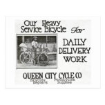 Our Heavy Service Bicycle - Vintage Americana Post Cards