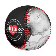 Our Hero Dad | Best Dad Ever Photo Collage Baseball