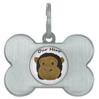 Our Hero Pet Name Tag