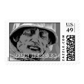 Our Heroes Postage Stamp