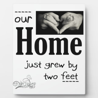 Our Home Grew Two Feet Display Plaques
