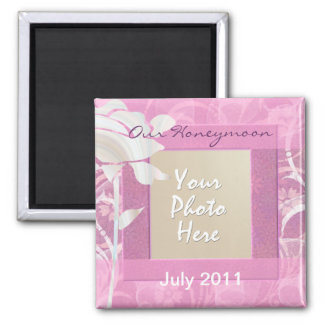 Our Honeymoon 2 Inch Square Magnet