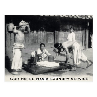 Our Hotel Has A Laundry Service - Postcard