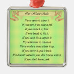 Our House Rules Christmas Ornament