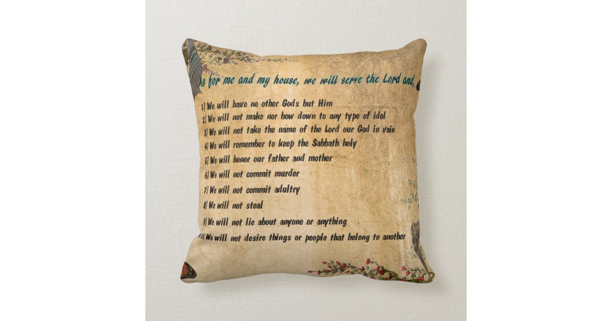 Our House Rules Throw Pillow Zazzle