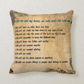 Our House Rules Throw Pillow