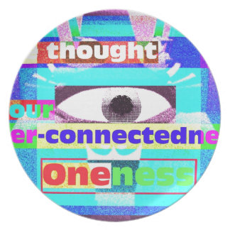 Our intrinsic inter-connectedness Oneness Dinner Plate