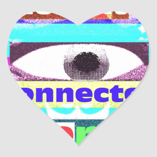 Our intrinsic inter-connectedness Oneness Heart Sticker