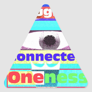 Our intrinsic inter-connectedness Oneness Triangle Sticker
