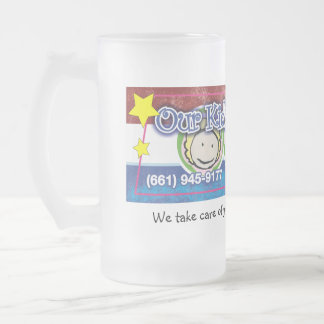 Our Kid's Family Daycare Frosted Glass Beer Mug