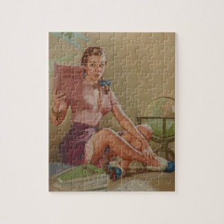 Our Knowledge and Experience  Pin Up Art Jigsaw Puzzle