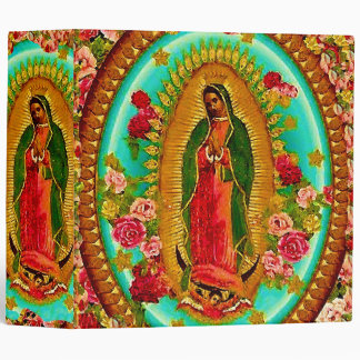 Our Lady Guadalupe Mexican Saint Virgin Mary 3 Ring Binder