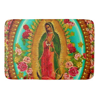 Our Lady Guadalupe Mexican Saint Virgin Mary Bathroom Mat