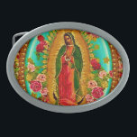 "Our Lady Guadalupe Mexican Saint Virgin Mary Belt Buckle<br><div class=""desc"">&quot;Our Lady of Guadalupe&quot;  &quot;Virgin Mary&quot; Mexican Mexico &quot;Native American&quot; Catholic Bohemian Boho Saint Goddess Christian Indigenous Ethnic Hispanic Latina &quot;Latin American&quot; Spanish Colonial Mayan Precolumbian Toltec Olmec &quot;Nuestra Senora de Guadalupe&quot; Catolica Espagnol Kitsch Southwest Southwestern Vintage Souvenir Holy Mother Jesus God Worship Religion Hippie Global Peace</div>"