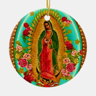 Our Lady Guadalupe Mexican Saint Virgin Mary Ceramic Ornament