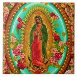 "Our Lady Guadalupe Mexican Saint Virgin Mary Ceramic Tile<br><div class=""desc"">&quot;Our Lady of Guadalupe&quot;  &quot;Virgin Mary&quot; Mexican Mexico &quot;Native American&quot; Catholic Bohemian Boho Saint Goddess Christian Indigenous Ethnic Hispanic Latina &quot;Latin American&quot; Spanish Colonial Mayan Precolumbian Toltec Olmec &quot;Nuestra Senora de Guadalupe&quot; Catolica Espagnol Kitsch Southwest Southwestern Vintage Souvenir Holy Mother Jesus God Worship Religion Hippie Global Peace</div>"