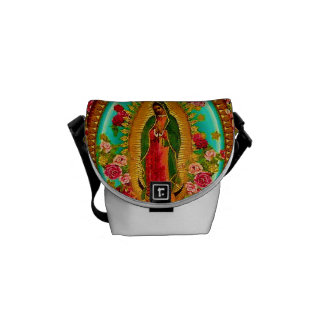 Our Lady Guadalupe Mexican Saint Virgin Mary Courier Bags