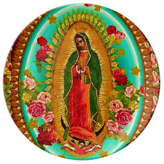 Our Lady Guadalupe Mexican Saint Virgin Mary Dinner Plate