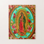 Our Lady Guadalupe Mexican Saint Virgin Mary Jigsaw Puzzles