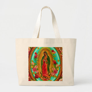 Our Lady Guadalupe Mexican Saint Virgin Mary Jumbo Tote Bag