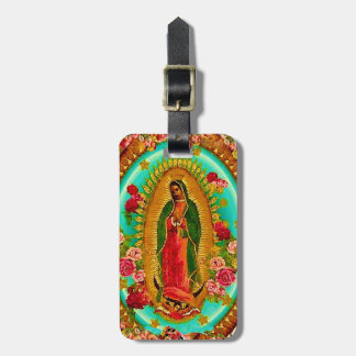 Our Lady Guadalupe Mexican Saint Virgin Mary Luggage Tag