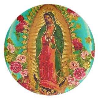 Our Lady Guadalupe Mexican Saint Virgin Mary Melamine Plate