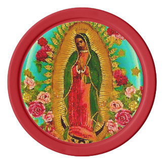 Our Lady Guadalupe Mexican Saint Virgin Mary Poker Chip Set