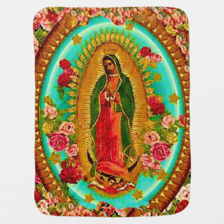 Our Lady Guadalupe Mexican Saint Virgin Mary Stroller Blanket