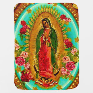 Our Lady Guadalupe Mexican Saint Virgin Mary Swaddle Blanket