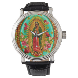 Our Lady Guadalupe Mexican Saint Virgin Mary Wrist Watch
