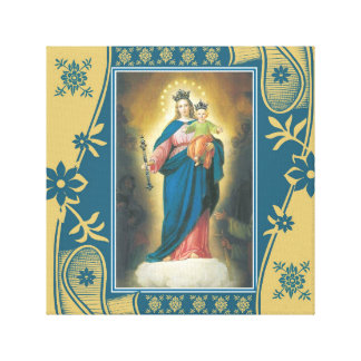 Our Lady Help of Christians with Baby Jesus Canvas Print