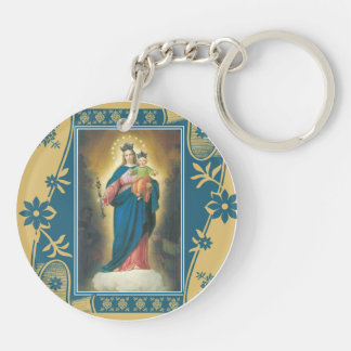 Our Lady Help of Christians with Baby Jesus Keychain