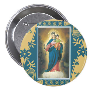 Our Lady Help of Christians with Baby Jesus Pinback Button