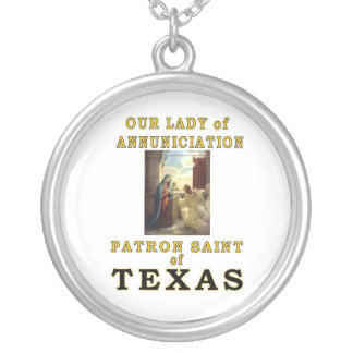 OUR LADY of ANNUNCIATION Silver Plated Necklace