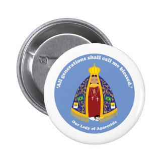 Our Lady of Aparecida Button