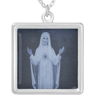 Our Lady of Beauraing Holy picture Silver Plated Necklace