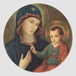 Our Lady of Consolation with the Child Jesus Classic Round Sticker