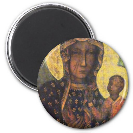 Our Lady of Czestochowa 2 Inch Round Magnet