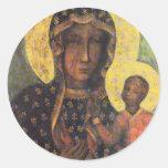 Our Lady of Czestochowa Classic Round Sticker