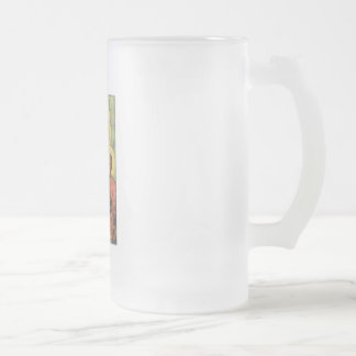 Our Lady of Czestochowa Frosted Glass Beer Mug